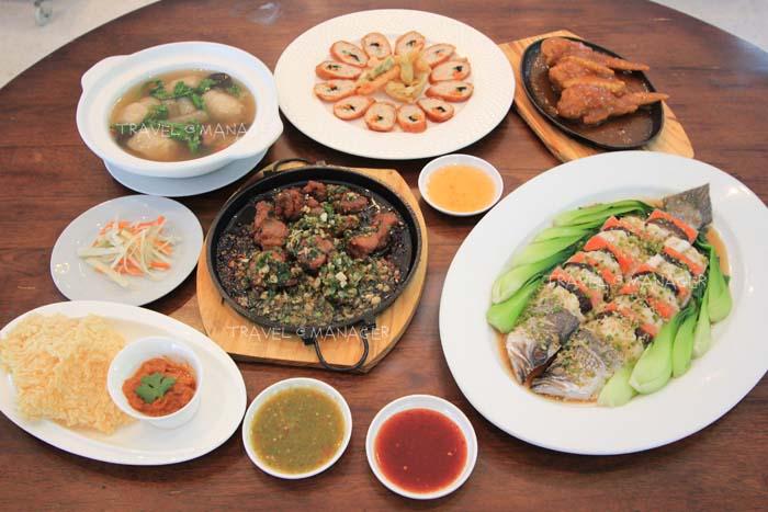 เมนูหลากหลายของ ร้านไมเคิ่ล อาหารไทย-จีน