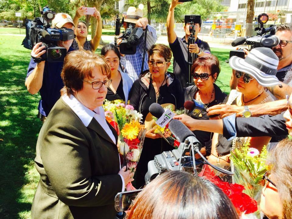 """265 ไมล์กับ 4 ชั่วโมง น้ำใจชุมชนไทยจาก แอล.เอ.ขอบคุณเจ้าหน้าที่เมืองเฟรสโน เชื่อกู้ร่าง""""น้องมิน-กอล์ฟ""""ได้เร็ววันนี้"""