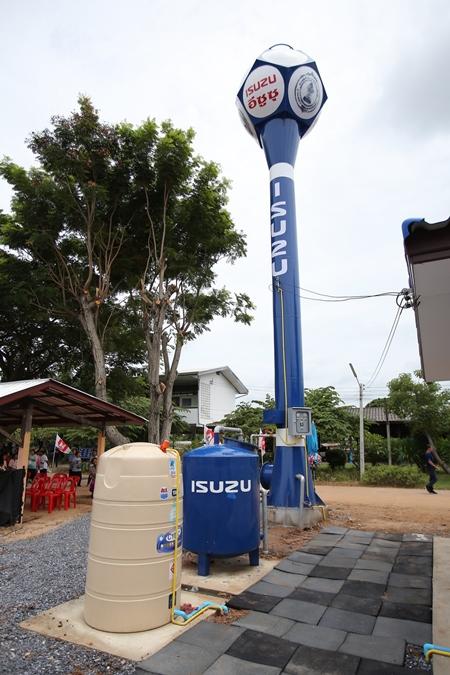 แท้งค์น้ำที่อีซูซุทำมอบให้กับทางโรงเรียน