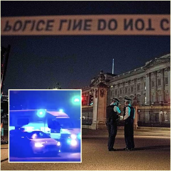 """In Clip : ระทึก! หนุ่มวัย 26 พยายามขับ """"โตโยต้าพริอุส"""" พุ่งชนรถตู้ตำรวจอังกฤษ มีดดาบยาว 4 ฟุต ตะโกน """"อัลลอหุ อักบัร"""" นอกวังบักกิงแฮม"""