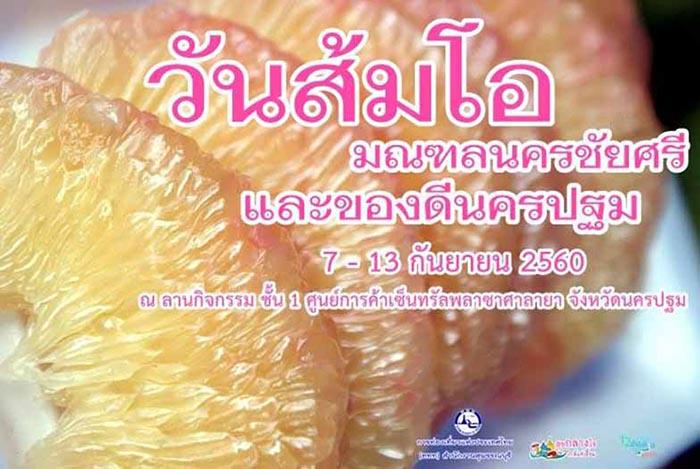 """ชิม ชอป ผลไม้ส่งตรงจากสวน ในงาน""""วันส้มโอมณฑลนครชัยศรีและของดีนครปฐม"""""""