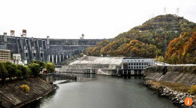 พื้นที่อ่างเก็บน้ำไปซาน อำเภอจิ้งยู มณฑลจี๋หลิน ที่เดิมเคยอยู่ในแผนก่อสร้างโรงไฟฟ้านิวเคลียร์ (ภาพเซาท์ไชน่ามอร์นิงโพสต์)