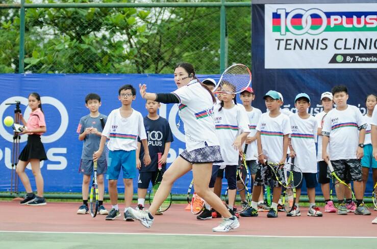 แทมมี่ ติวเข้มเยาวชนเทนนิสไทย