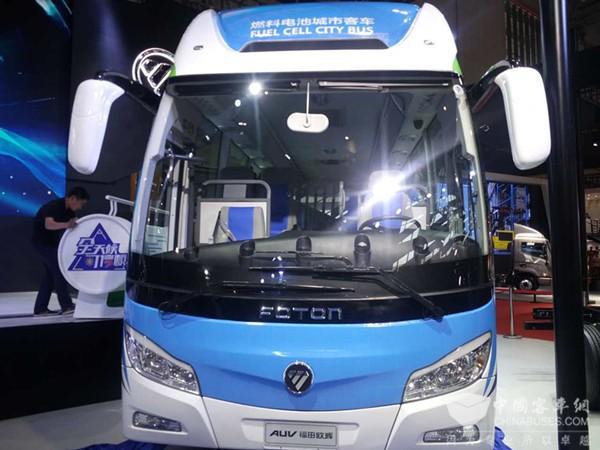 รถโดยสารเชื้อเพลิงไฮโดรเจน ที่วิจัยพัฒนาร่วมกันโดยมหาวิทยาลัยชิงหวา และซิโนไฮเทค (ภาพจาก chinabuses.org)