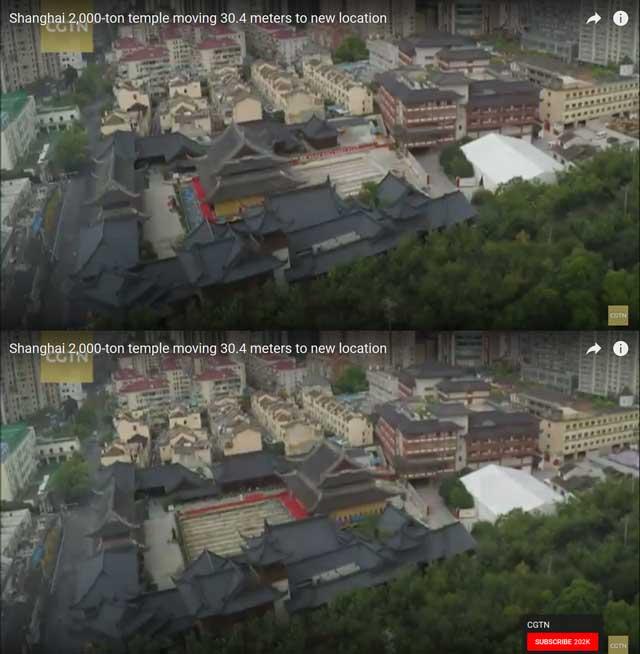 (ชมคลิป) ศาลาพระหยก เซี่ยงไฮ้ 2,000 ตัน ย้ายสัปดาห์เดียว