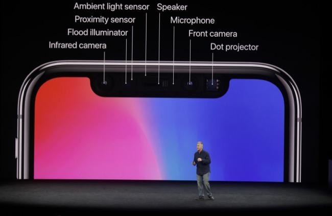 กองทัพเซ็นเซอร์ใน iPhone X