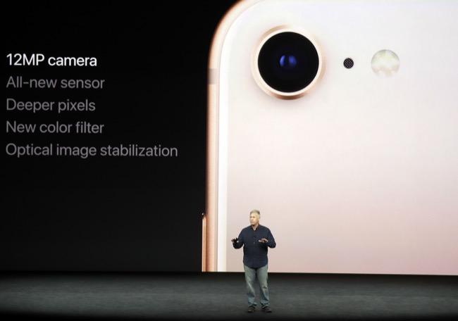 กล้องหลังเดี่ยวของ iPhone 8