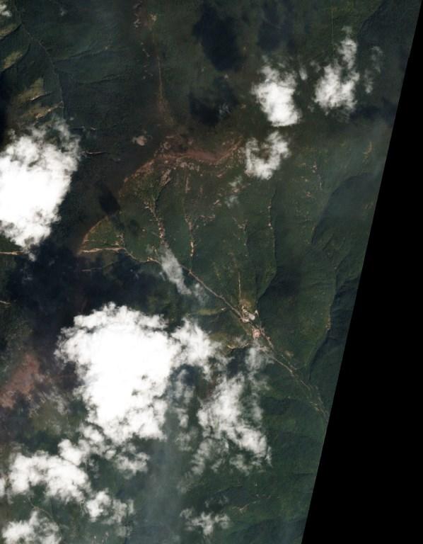 ภาพถ่ายดาวเทียมบริเวณสถานที่ทดสอบนิวเคลียร์ ปุงกเย-รี ของเกาหลีเหนือเมื่อวันที่ 4 ก.ย. จาก www.Planet.com