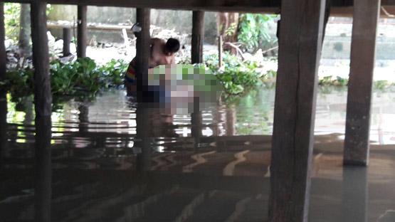 คนหาปลาผงะพบศพลอยน้ำ ติดอยู่ใต้ถุนบ้านริมแม่น้ำเจ้าพระยา