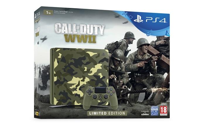 """โซนี่ เผยชุดบันเดิล """"Call of Duty: WW2"""" พ่วงเครื่อง PS4 ลายพราง"""