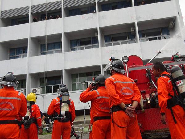 รพ.เบตงฝึกซ้อมแผนป้องกันระงับอัคคีภัย และการช่วยเหลือผู้ประสบภัยในอาคารตึกสูง