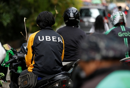 Uber motorcycle taxi