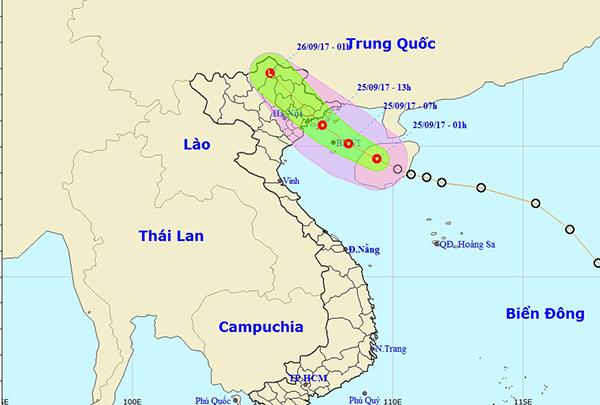 <br><FONT color=#00003>แผนภูมิโดยศูนย์อุตุนิยมวิทยาและอุทกศาสตร์กลาง ในกรุงฮานอยตอนเช้าตรู่วันนี้ ฝนจะเริ่มลงหนักตอนสว่างวันทำงานพอดี  และจะตกทั้งวัน-ตลอดทั้งคืน หลายจังหวัดภาคเหนือเวียดนามชุมฉ่ำ พร้อมความเสี่ยงต่ออุบัติภัยอื่นๆ ที่เกิดจากน้ำ. </b>