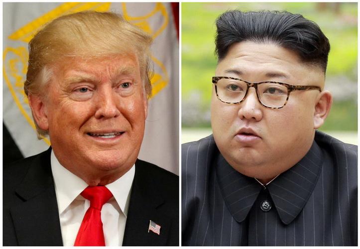 ประธานาธิบดี โดนัลด์ ทรัมป์ แห่งสหรัฐฯ และผู้นำ คิม จอง อึน แห่งเกาหลีเหนือ