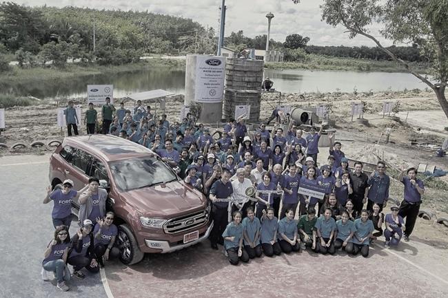 ฟอร์ดนำทีมจัดกิจกรรม มอบน้ำให้ชุมชน