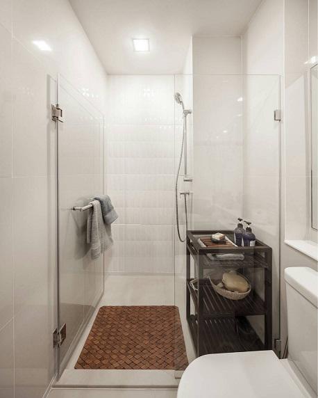 ห้องน้ำสำเร็จรูปในห้องตัวอย่างโครงการ Life One Wireless
