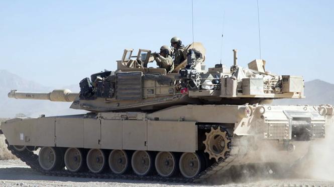 ดูรถถังเอบรามส์สหรัฐคันแรกติดตั้งระบบ Trophy อิสราเอล สู้จรวดรัสเซีย