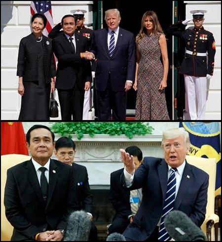 พล.อ.ประยุทธ์ จันทร์โอชา พร้อมภริยา และคณะ เดินทางเยือนสหรัฐอเมริกาอย่างเป็นทางการตามคำเชิญของประธานาธิบดีโดนัลด์ ทรัมป์ ระหว่างวันที่ 2-4 ต.ค.