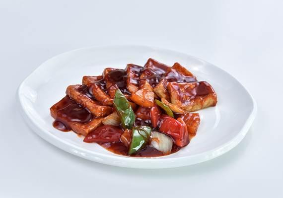 เต้าหู้ผัดซอสเปรี้ยวหวาน ร้าน Man Fu Yuan จาก My Kitchen ชั้น 4 สยามดิสคัฟเวอรี่
