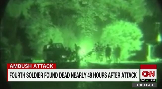 "In Pics :CNN แฉเดือด  ""ทหารรบพิเศษกรีนเบเร่ต์อเมริกันคนที่ 4"" ถูกจับตอนมีมหายใจ"" หลังหน่วยเหนือให้แค่ ""ไรเฟิล-ปิกอัพกระจกทะลุกระสุน"" ฝ่าดง RPG ของก่อการร้าย IS ร่วม 50 ในไนเจอร์"