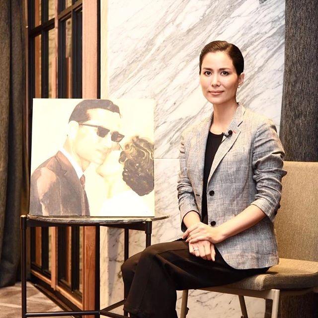 """ประมูล 5 หมื่น ภาพวาดจากหัวใจ """"เชอรี่"""" พระบรมสาทิสลักษณ์ """"ในหลวง ร.9"""" สมทบทุนสภากาชาดไทย"""