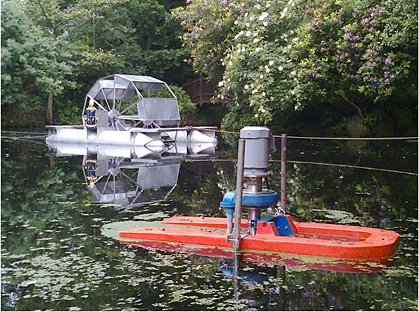 เครื่องกลเติมอากาศที่ผิวน้ำ และแบบที่เติมใต้ผิวน้ำ