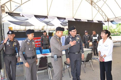 รอง ผบ.ตร.พอใจแผนการปฏิบัติหน้าที่ของ ตร.พร้อมกล้อง CCTV  จ.กาญจนบุรี