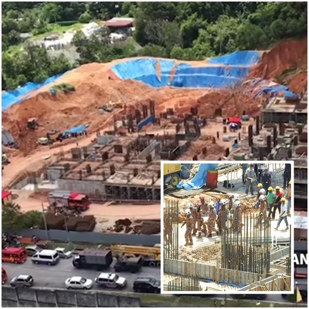In Clip : เหตุดินถล่มเขตก่อสร้างปีนังวันเสาร์ ยอดเหยื่อคนงานต่างชาติดับพุ่ง 11 ราย