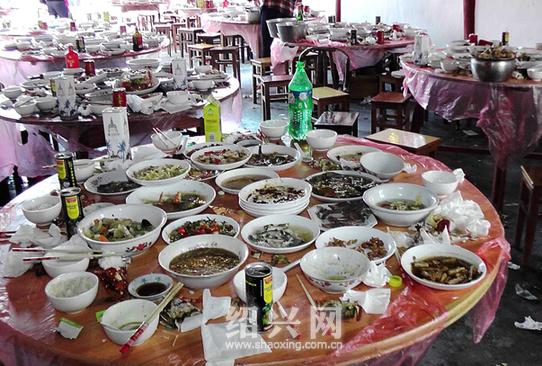 โต๊ะจีนงานศพแห่งหนึ่งในจีน ภาพจาก http://www.iaweg.com/kantu/gu0olqsplp/39.html