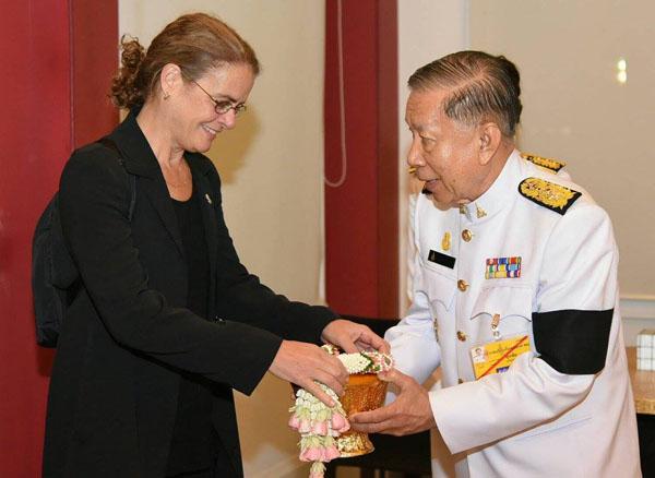 มาดามปาแย็ต ผู้สําเร็จราชการฯ แห่งแคนาดา เดินทางถึงประเทศไทยเมื่อวันที่ 25 ตุลาคม 2560