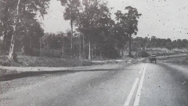 """ถนนสายเอเชีย (บางปะอิน-นครสวรรค์) ภาพจากหนังสือ """"เที่ยวทั่วไทย"""" ของปราโมทย์ ทัศนาสุวรรณ ปี พ.ศ. 2519"""