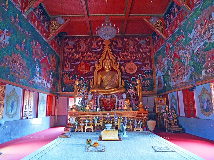 พระพุทธชินราชมุนีศรีประจวบ พระประธานในพระอุโบสถ