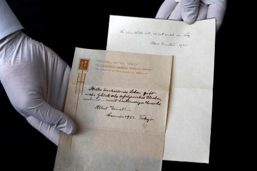 Einstein's note