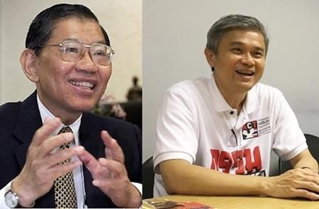 (จากซ้าย)ศาสตราจารย์พิเศษ วิชา มหาคุณ อดีตกรรมการป้องกันและปราบปรามการทุจริตแห่งชาติ (ป.ป.ช.) ,ดร.มานะ นิมิตรมงคล เลขาธิการองค์กรต่อต้านคอร์รัปชั่น