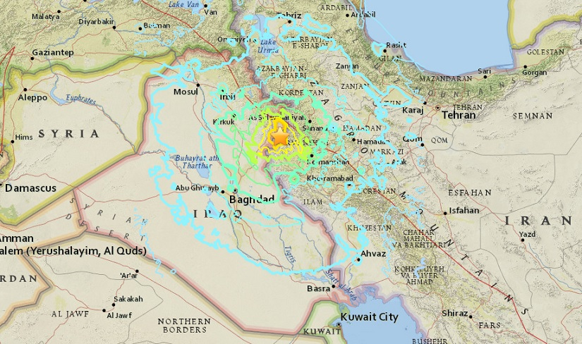 """ระทึก!! ยอดเหยื่อดินไหว 7.3 เขย่าชายแดน """"อิรัก-อิหร่าน"""" พุ่งเกิน 200 ศพ-บาดเจ็บ 1,700 คน (ชมคลิป)"""