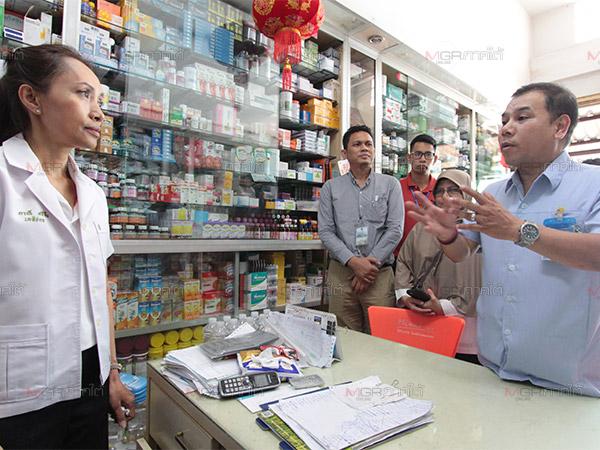 ตื่นตัว! สสจ.นราธิวาสออกตรวจร้านขายยาป้องกันการขายยาอันตราย