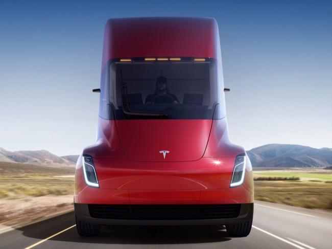ด้านหน้าของ Tesla Semi