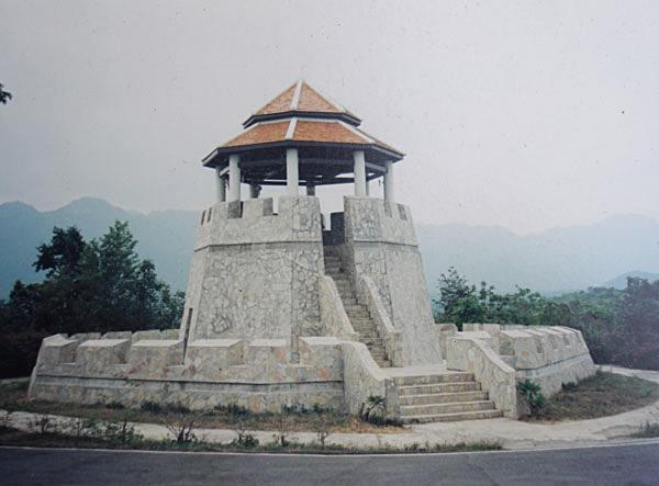 หอรบในอนุสรณ์สถานสงคราม ๙ ทัพที่กาญจนบุรี