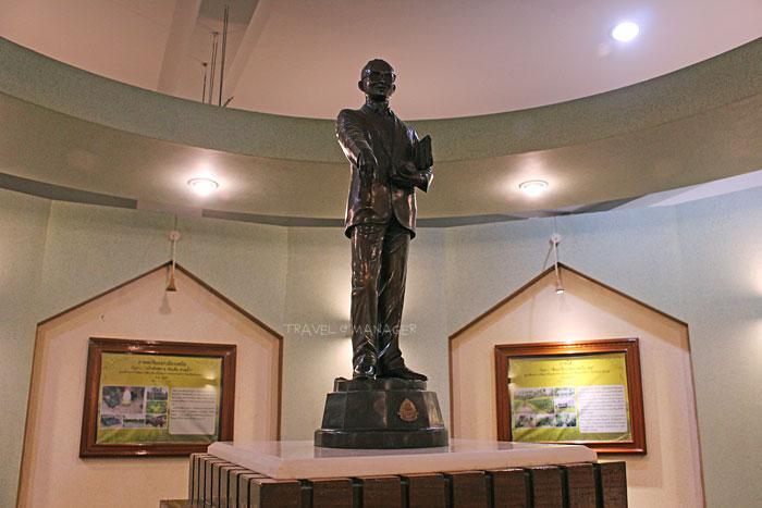 พระบรมรูปของในหลวงรัชกาลที่ 9 ภายในพิพิธภัณฑ์