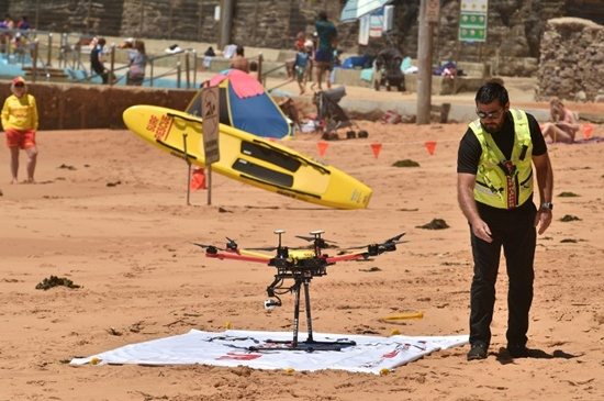 Shark-spotting drones on patrol at Australian beaches
