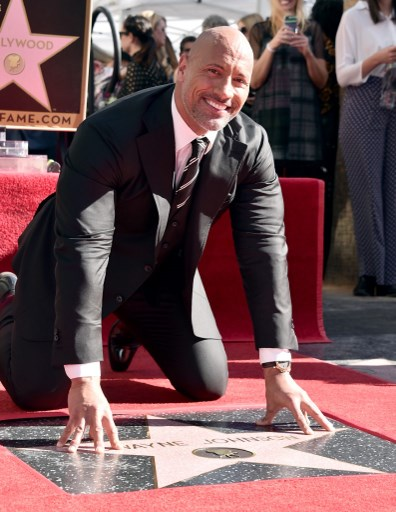 Dwayne 'The Rock' Johnson honored with Hollywood star