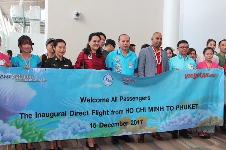 เฮ ! สายการบิน เวียตเจ็ท เปิดเที่ยวบินปฐมฤกษ์ โฮจิมินห์ - ภูเก็ต 4 เที่ยวบินต่อสัปดาห์