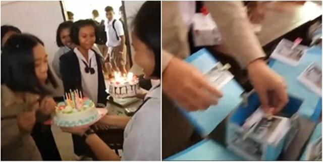 ยิ้มตาม! เด็กนักเรียนเมืองจันท์ แกล้งทะเลาะก่อนจะเซอร์ไพรส์วันเกิดครู