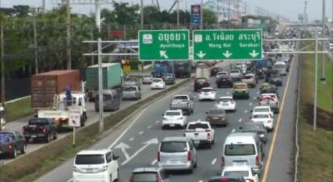 ถนนสายเอเชีย-พหลโยธินเมืองกรุงเก่า การจราจรคับคั่ง!