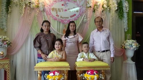 ตามความเชื่อ .. สอบต.จัดงานแต่งให้หลานฝาแฝดชายหญิงวัย 6 ขวบ