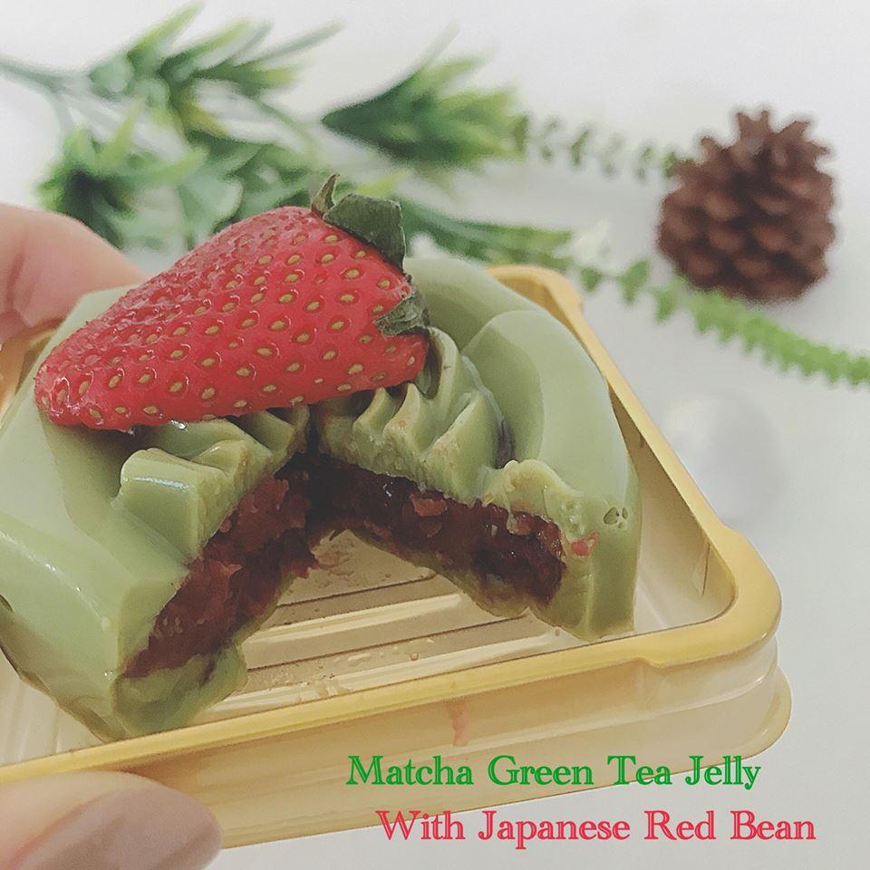 วุ้นชาเขียวมัทฉะไส้ถั่วแดงญี่ปุ่นในเทศกาลพิเศษ