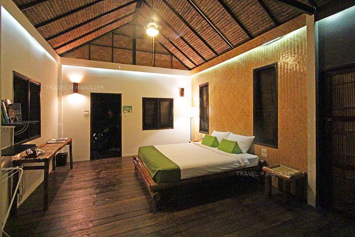 ภายในห้องพักแบบ Bamboo Cottage