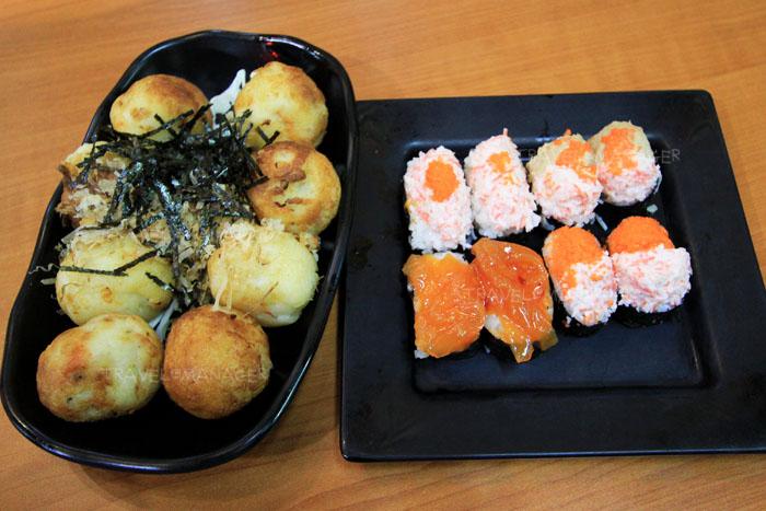 ทาโกะยากิและซูชิของร้านอรทัย ซูชิวังหลัง