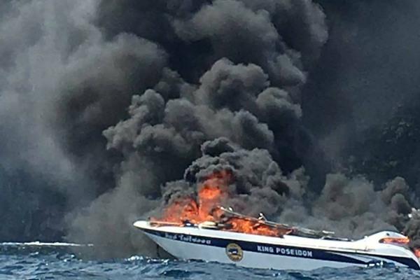 ตร.เรียกสอบใบอนุญาต เจ้าของเรือ-กัปตัน-ผจก.ทัวร์ หลังสปีดโบ๊ตระเบิด-เพลิงไหม้ กลางทะเลกระบี่