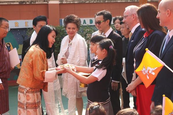 สมเด็จพระราชชนนีแห่งภูฏาน เสด็จฯ ทรงเยี่ยมชมโรงเรียนนานาชาติ เดอะรีเจ้นท์ กรุงเทพฯ